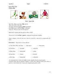 Resultado De Imagem Para Atividades Sobre Esportes Em Ingles