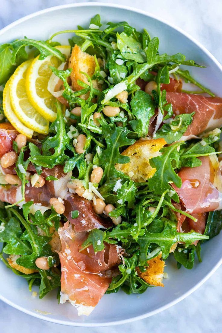 Photo of Lemony White Bean Salad with Prosciutto