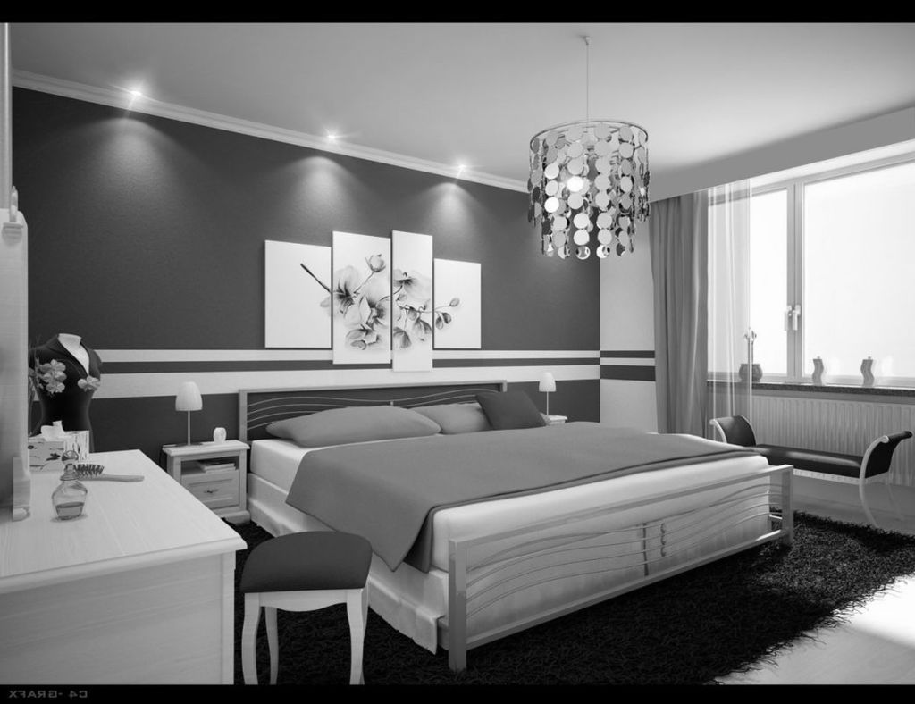 Gray Black And White Bedroom Ideas