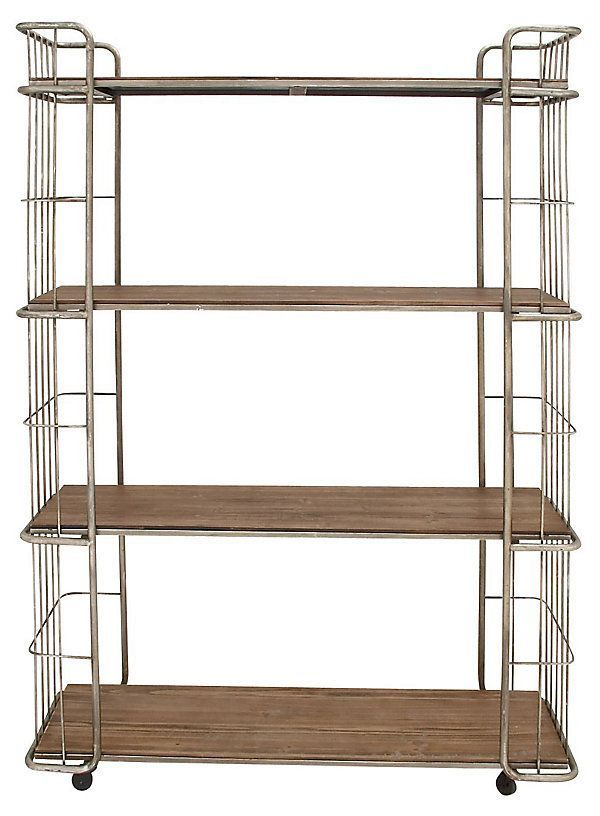 "73"" Tall Metal Rolling Shelf 