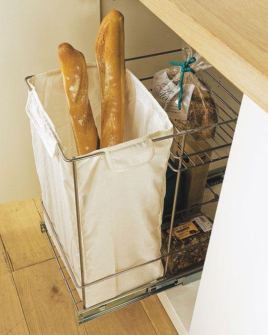 pour ranger le pain les bonnes id es pinterest rangement cuisine rangement et meuble cuisine. Black Bedroom Furniture Sets. Home Design Ideas