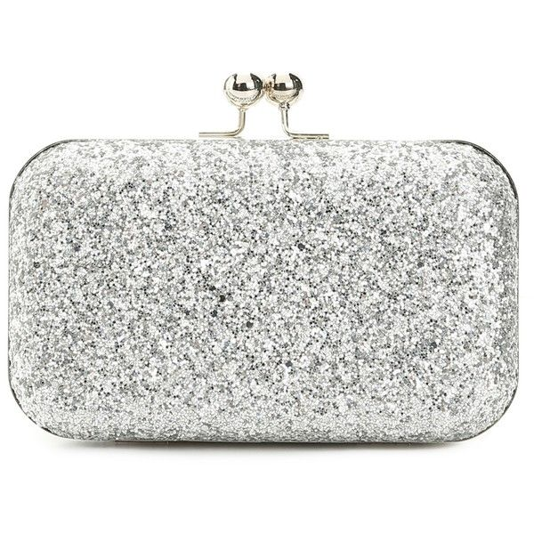 30 Liked On Polyvore Featuring Bags Handbags Clutches Glitter Handbag White Lulu Townsend And Hand