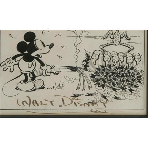 Original Art From Ub Iwerks For The Mickey Mouse News Strip The