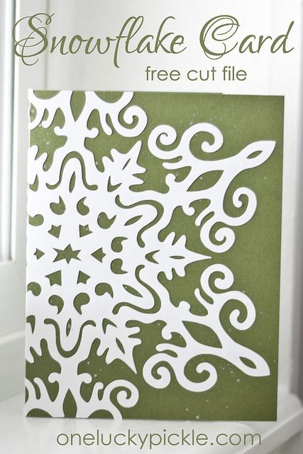 Snowflake Card Cricut Christmas Cards Snowflake Cards Christmas Cards Free