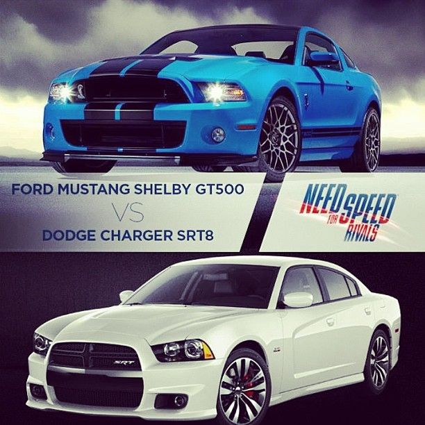 Ford Mustang Shelby GT500 Vs Dodge