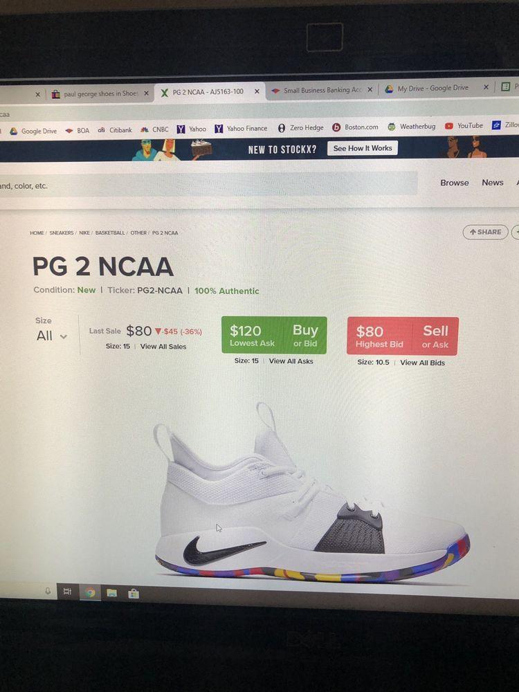 Nike PG2 (AJ5163-100) NCAA tournament SZ 9.5 great condition . 7fc59b68e