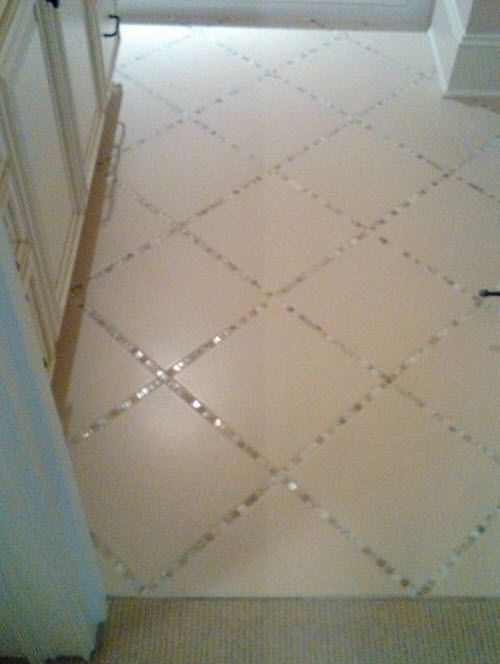 26 White Glitter Bathroom Floor Tiles Ideas And Pictures Home Diy Tile Floor Diy Home Remodeling