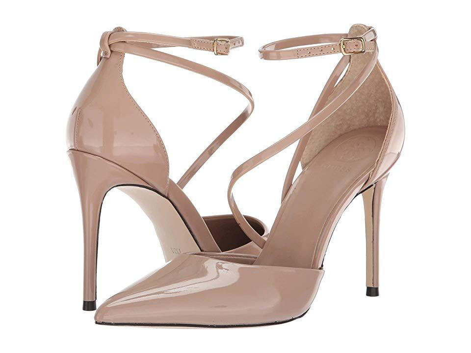 GUESS Bizzy Natural Synthetic High Heels Make your look stand out in the Guess Bizzy pumps Pumps feature a synthetic patent leather upper Ankle strap with buckle closure...