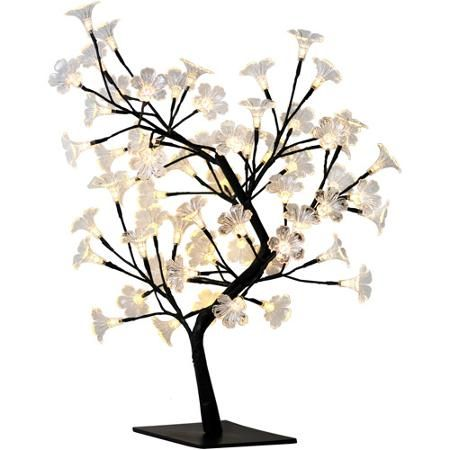 Simple Designs Led Cherry Blossom Decorative Lighted Tree Walmart Com Led Tree Small Led Lights Tree Lamp