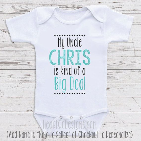 Personalized baby clothes my uncle is short or long sleeve baby personalized baby clothes my uncle is short by newbornbabyclothes negle Gallery