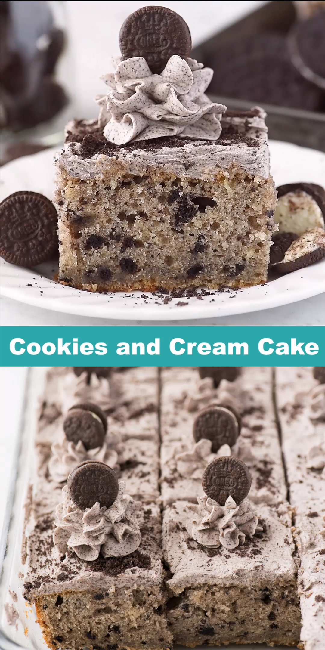 Cookies and Cream Cake #cookiesandcreamfrosting