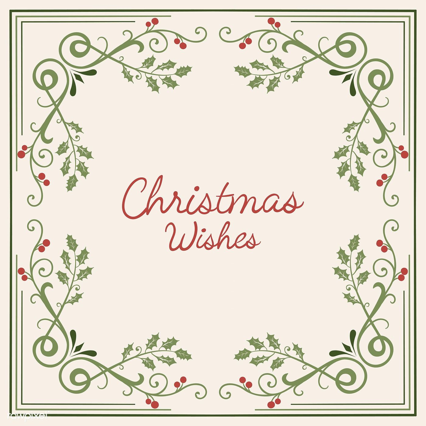 Christmas Wishes Card Design Vector Free Image By Rawpixel Com Free Christmas Greeting Cards Christmas Wishes Vector Free