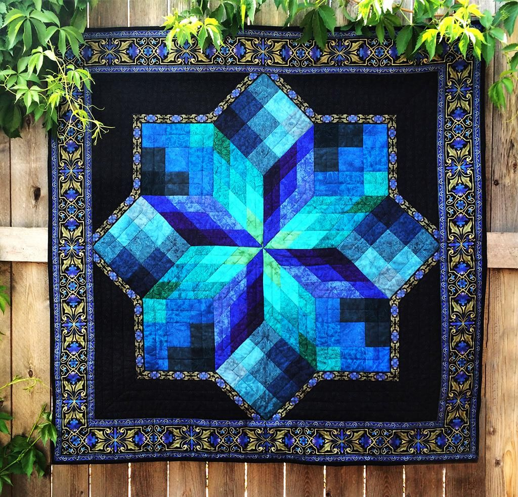 Stained Glass Star Quilt Kit Bluprint Star Quilt Kit Star Quilt Patterns Stained Glass Quilt