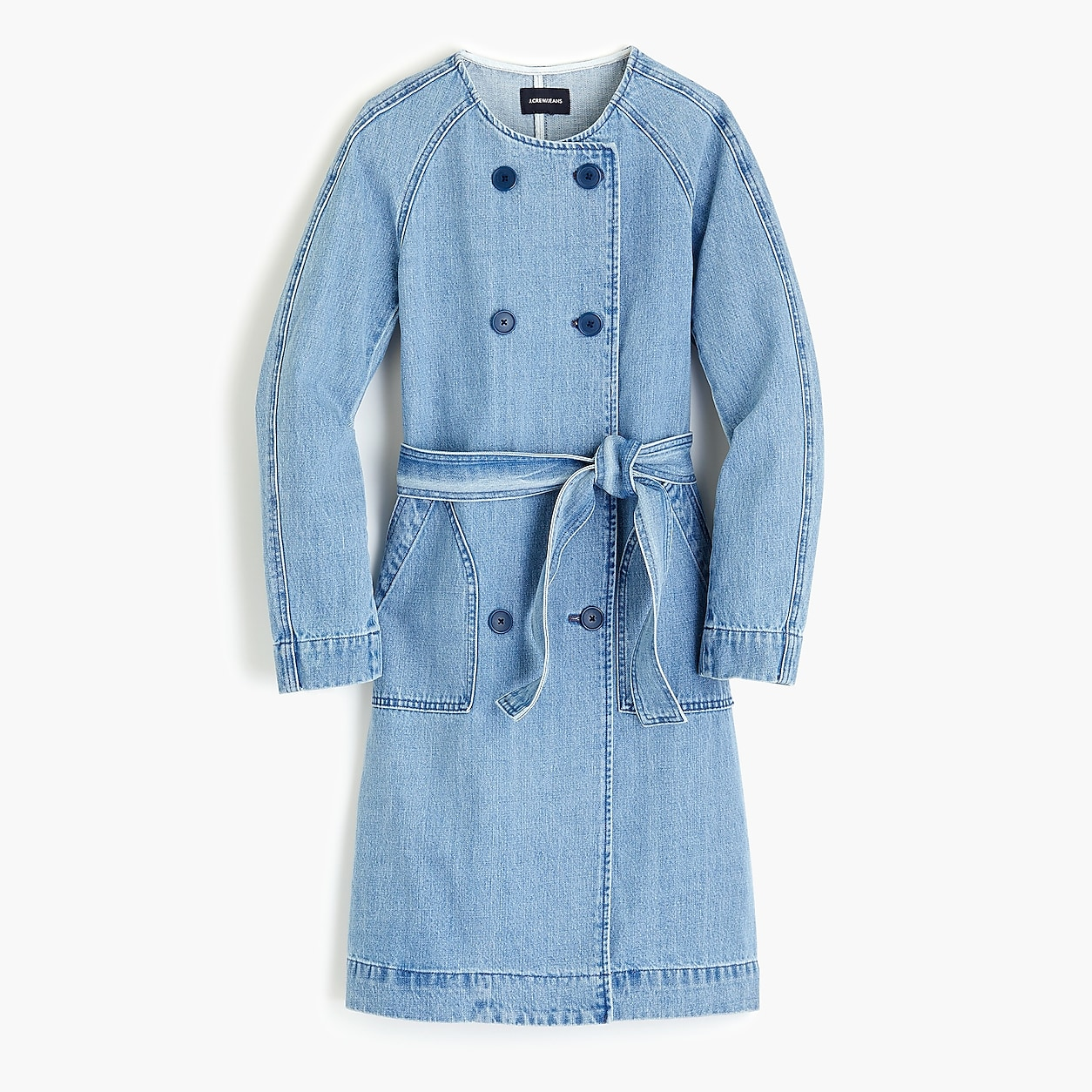 b370f047b Denim Collarless Trench Coat | Shop the look products in 2019 ...