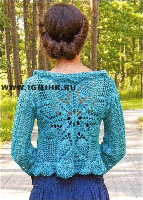 CARAMELO DE CROCHET | Blue crochet blouses, vest, sweter, tunica ...