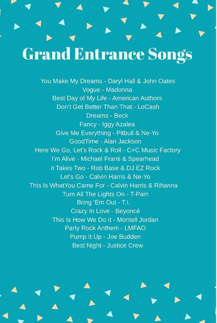 Great songs for the Bridal Party Grand Entrance #Bridal # ...
