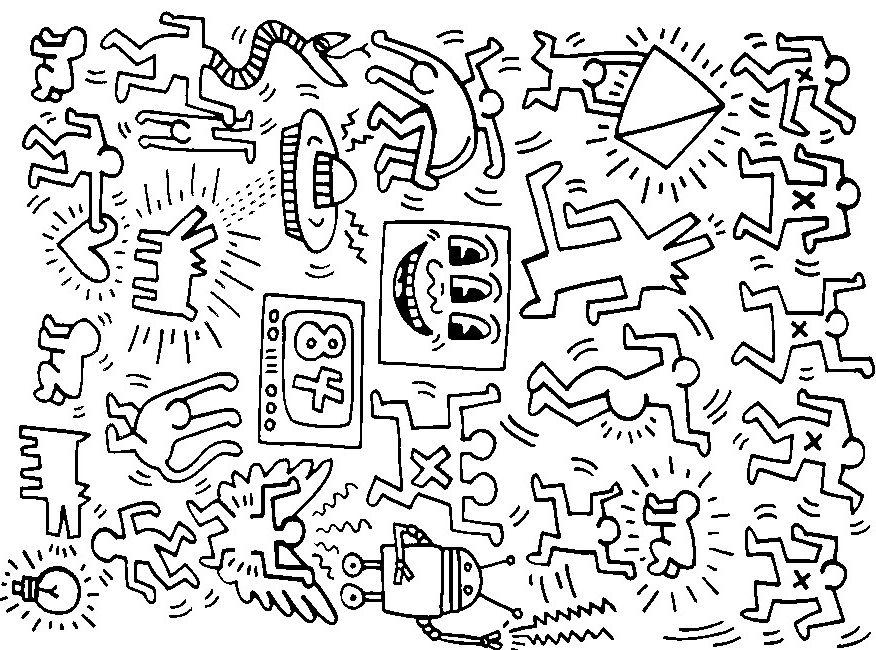 Ausmalen Erwachsene Keith Haring | Keith Haring Project | Pinterest ...