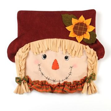 Product Details Scarecrow Chair Cover Girl Fall Decor