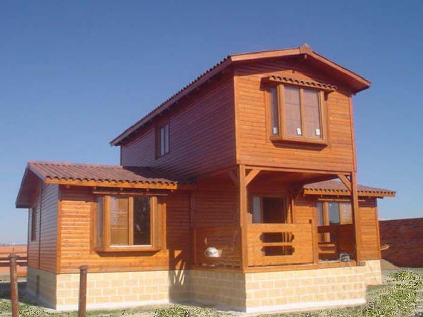 casa de madera modelo crisana m con porche en la entrada la