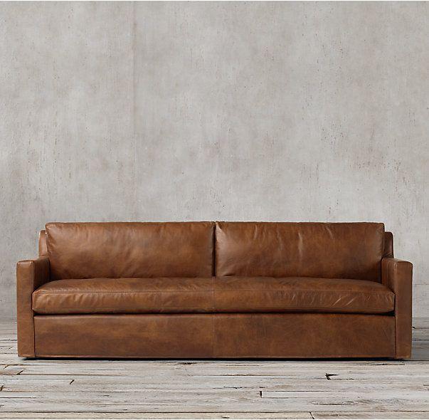 Pee Belgian Track Arm Leather Sofa