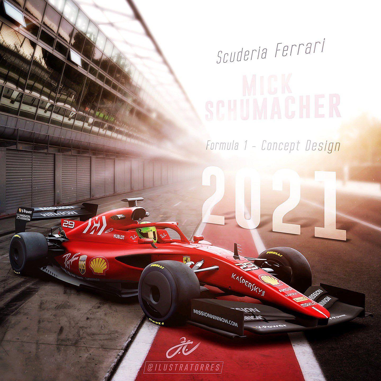 F1 2021 Concept Ferrari Ferrari F1 Formula 1