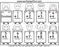 Addition Doubles Free Printable Worksheets Kindergarten Addition Worksheets Addition Kindergarten Christmas Math Worksheets