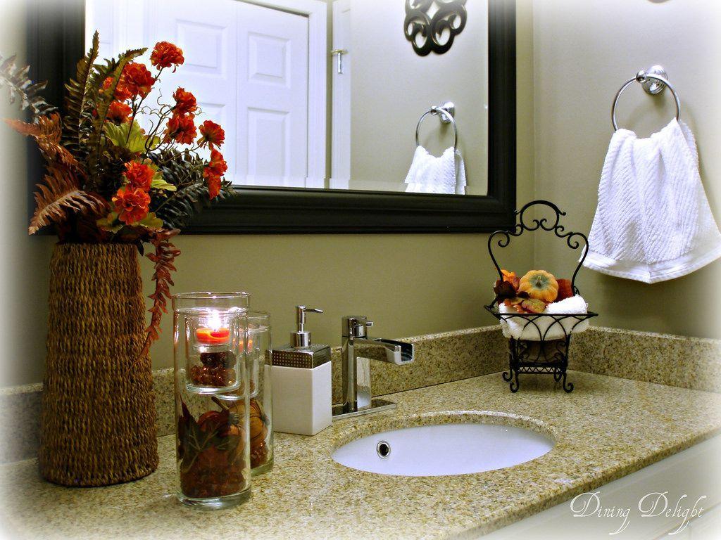 Fall Bathroom Decor 10 Fall Autumn Bathroom Decorating Ideas We Love Fall Bathroom Decor Fall Bathroom Bathroom Counter Decor Fall bathroom decor sets