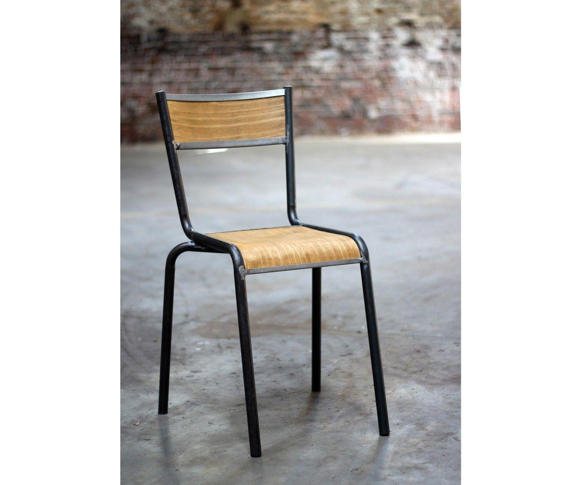 Lot 2 Chaises Ecole Pilot Chaises Ecole Design Noir Pilot Decoration Meublesetdesign Chaise Chaise Design Salle A Manger Design