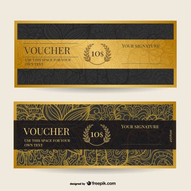 Vintage voucher template Free Vector Graphic - Header - create your own voucher template