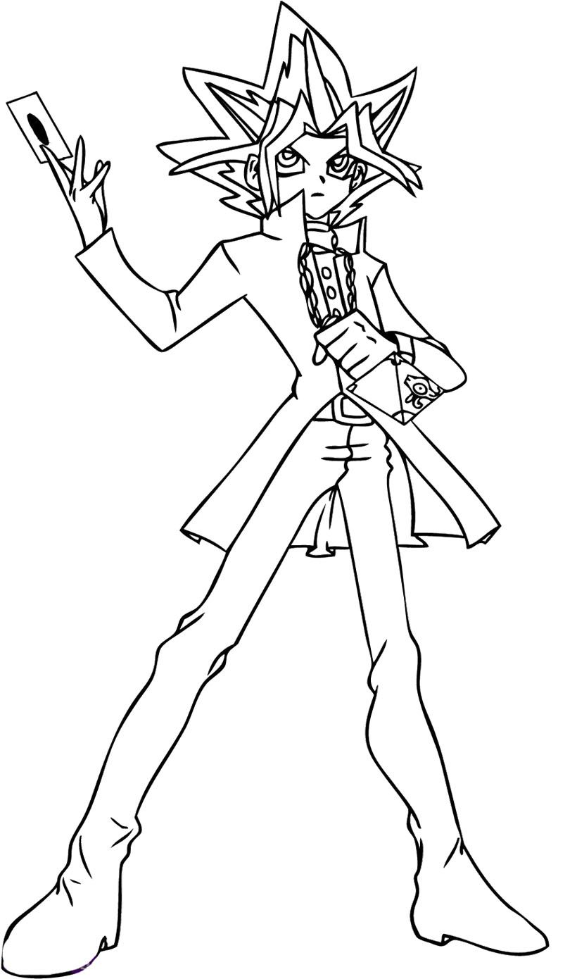 Yu Gi Oh Cards Appear Intense Cololoring Page With Images Coloring Pages Cartoon Coloring Pages Coloring Pages To Print