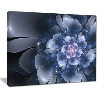 Fractal Flower Light Blue Petals Floral Digital Art Canvas Print 40 In Wide X 30 In High 1 Panel 1 Piece De Canvas Art Prints Design Art Graphic Art