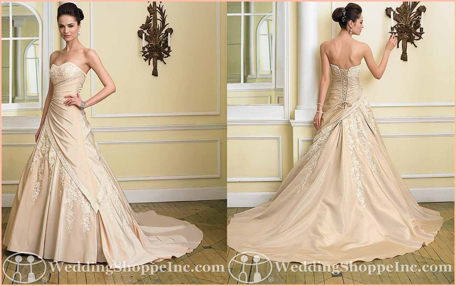 Peach colored wedding dresses colored wedding gowns find your colored wedding gowns the light salmon wedding dress ombrellifo Gallery