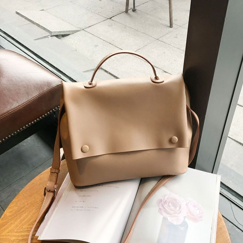Women Fashion Handbag Shoulder Messenger Leather Bag 2017 Korean Style New  Fashion Casual Large Tote Bag 5824efba63b57