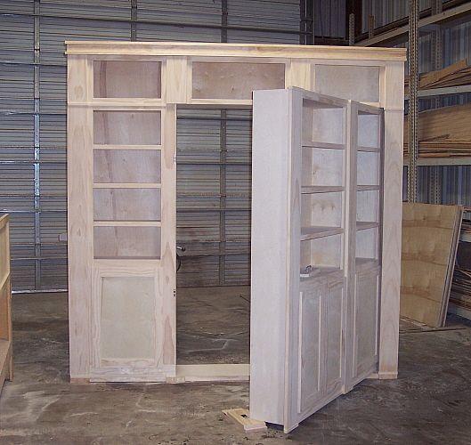 Construction Of A Hidden Door Shelf System To Hide A Hidden Room
