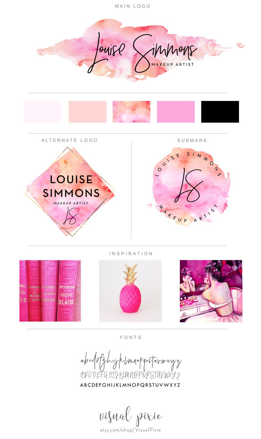 Branding Package Photography Logo Makeup Artist by