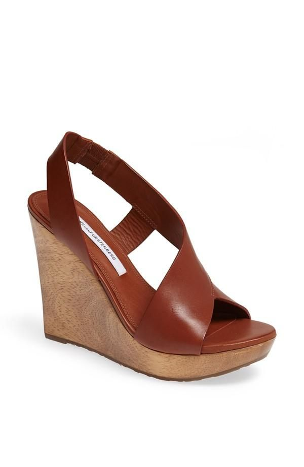 73e703254f7e Diane von Furstenberg Sunny Wedge Sandal | Обувь из кожи | Обувь ...
