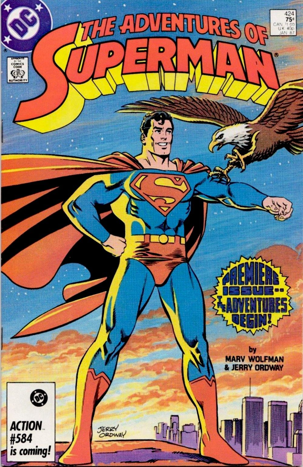 The Adventures Of Superman 424 January 1987 By Marv Wolfman And