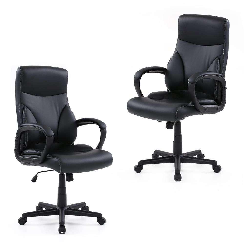 Prime Office Chair Pu Leather Adjustable Swivel Executive Stool Alphanode Cool Chair Designs And Ideas Alphanodeonline