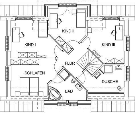 landhaus grundriss dachgeschoss mit 90,59 m² wohnfläche | meine,
