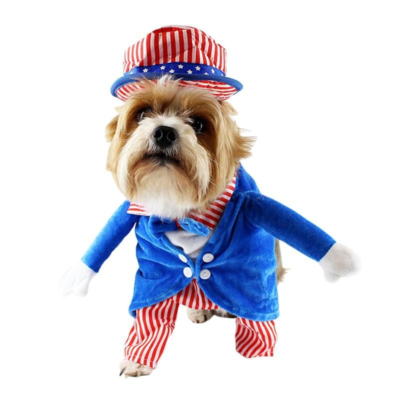 Handsome Sam Pet Cosplay Costume Halloween Christmas Costume Puppy