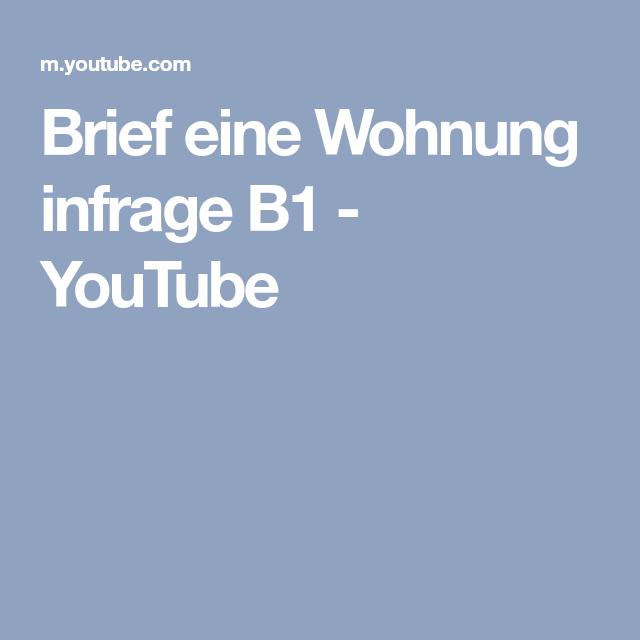 Brief Eine Wohnung Infrage B1 Youtube немецкийподготовка к в1