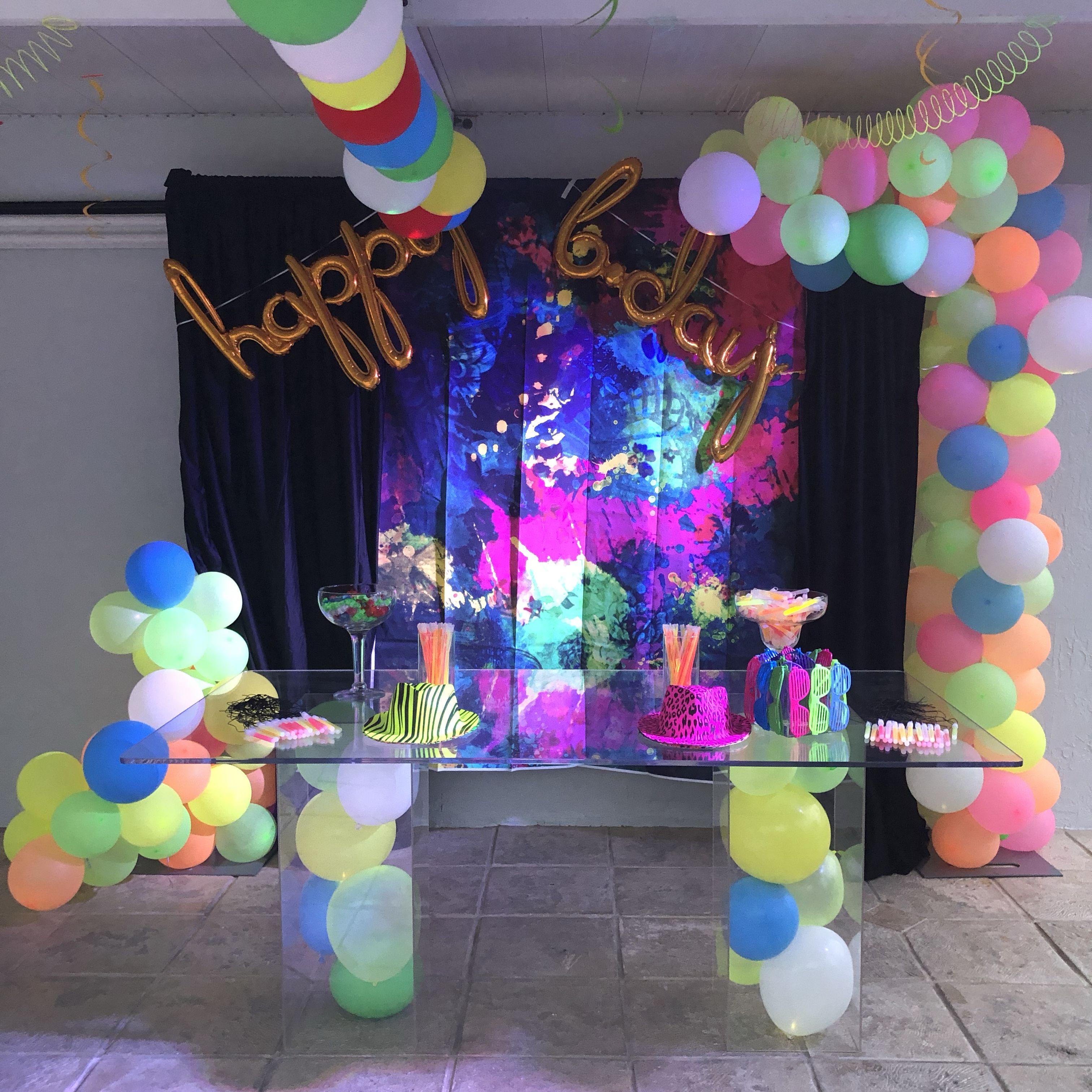 Glow In The Dark Balloon Decor Glow Stick Party Glow Party Neon Party