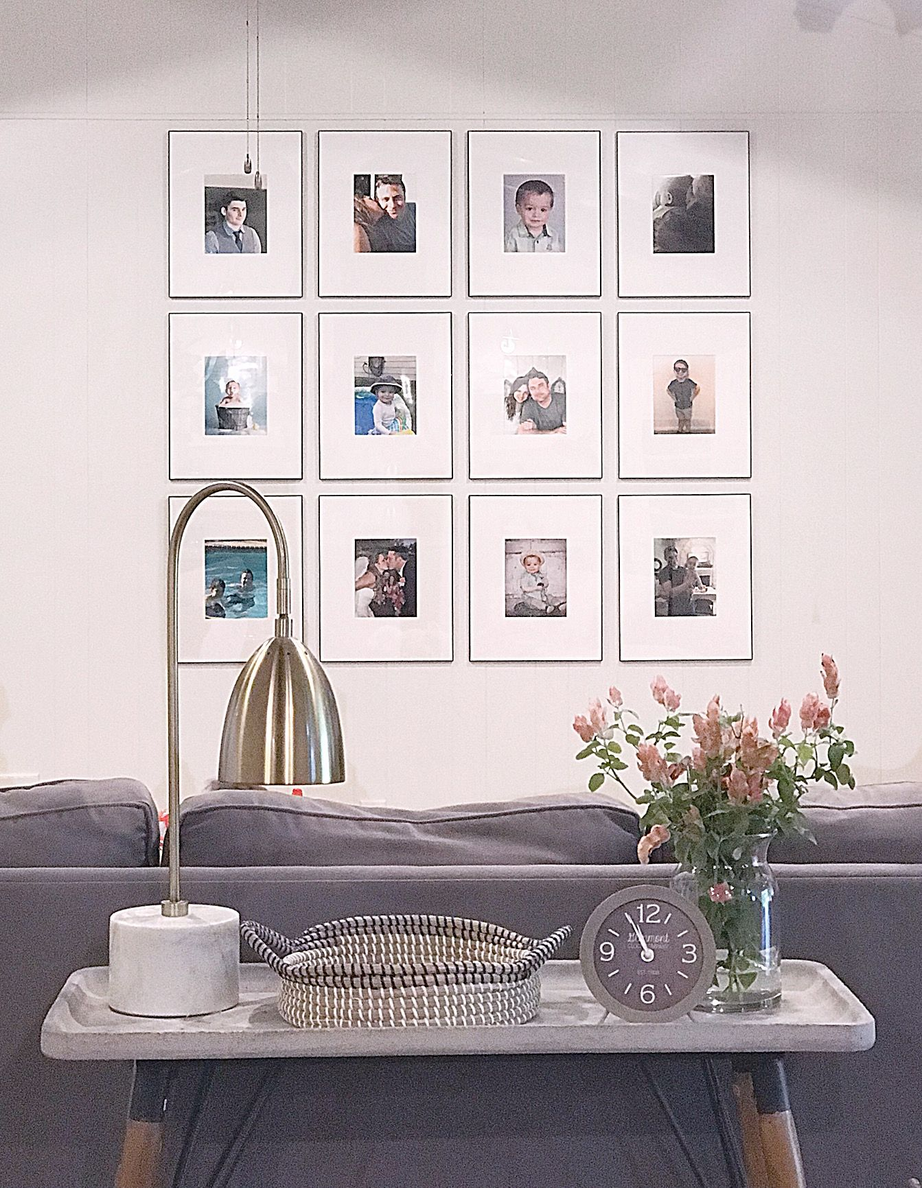 Family Photo Wall Living Room Family Photo Wall Ideas Framed Family Photos With Mattes Living Room Family Photo Idea Living Room Decor Large Wall Decor Wall Living room family picture ideas