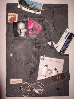upcycling jeans pinnwand http://www.kreativoderprimitiv.blogspot.de/2012/09/jeans-pinnwand.html
