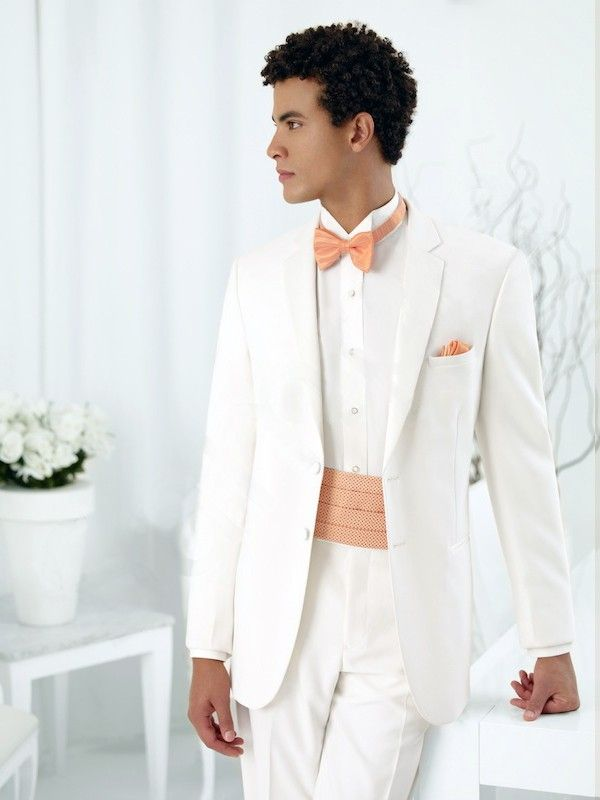 Stand out at the #prom with this ivory 2-button #Tuxedo by Jean ...