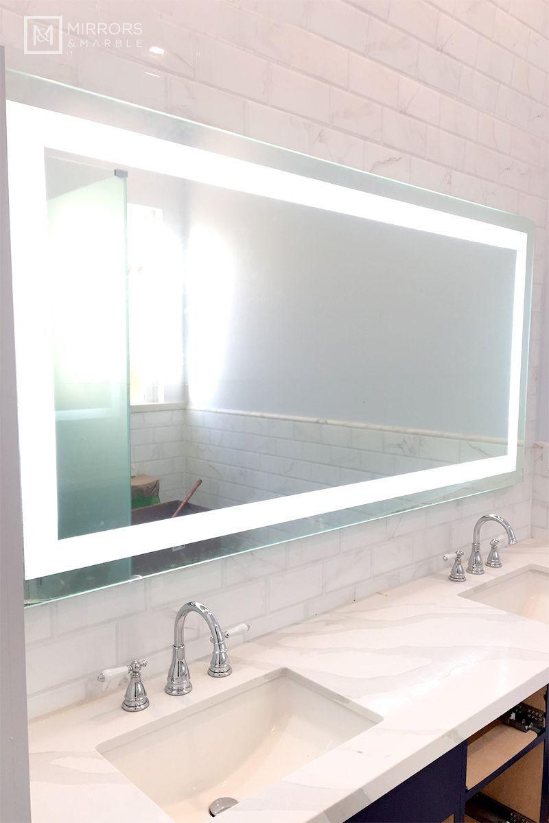 Front Lighted Led Bathroom Vanity Mirror 72 Bathroom Vanity