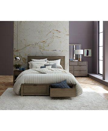 Tribeca Grey Storage California King Platform Bed, Created for ...