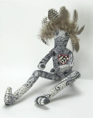 feather head...zentangle doll