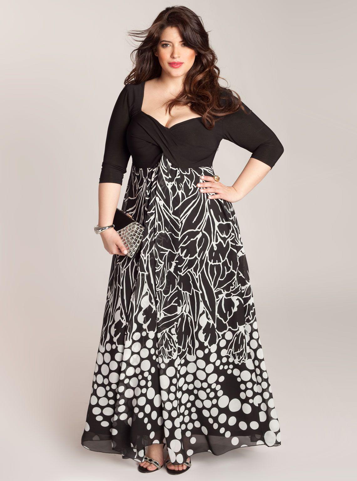 754eda9ad As opções de vestidos de festas para gordinhas são cada vez mais e ajudam a  mulher a valorizar o seu corpo, a mostrar os pontos fortes e a disfarçar as  peq