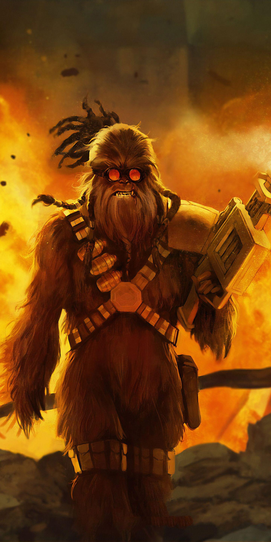 1440x2880 Chewbacca Star Wars Art Wallpaper Chewbacca Wallpaper Star Wars Pictures Chewbacca